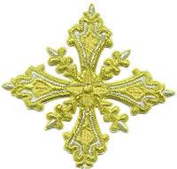 Church cross hand embroidery / Vestments Cross / Liturgic Cross