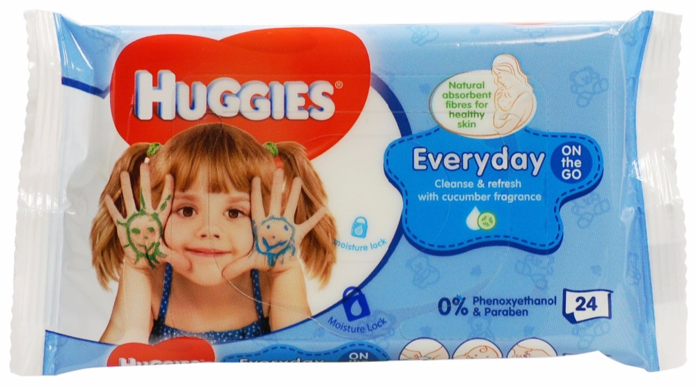 Huggies Baby Wipes On The Go - 24's