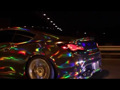 Incredible holographic vinyl wrap, holographic chrome vinyl wrap, black chrome vinyl wrap