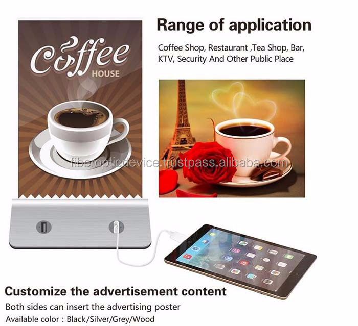 Double-Face Advertising Power Stand Coffee Shop Powerbank Restaurant Power Bank Restaurant Portable Battry Pack Charger