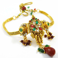 Bollywood Women Jewellery Polki Stone Armlet Indian Ethnic Upper Arm Bracelet Jewellery Gift For Her - ARM413