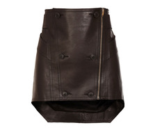 Micro Mini Leather Skirt With Uneven Hemline