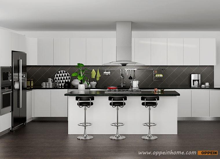 Keukenkast Wit Hoogglans : Oppein ontwerp moderne wit hoogglans keukenkast buy moderne