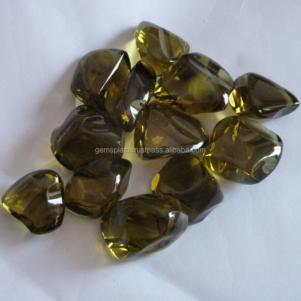 Bio Lemon Quartz Tumbles Stones Faceted Drilled Tumbled