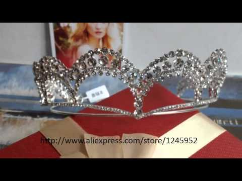 Chinese Famous Actress Angelababy Bridal Tiara Big Crown Crystal CZ Princess Silver Plated Tiaras fo