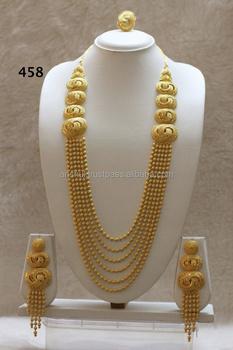 2 Gram African Gold Plated Set & 2 Gram African Gold Plated Set View 2 gram gold necklace set ...