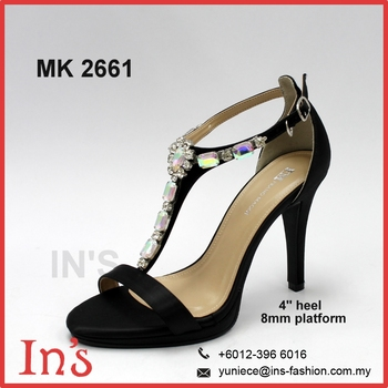Mk 2661 Latest Black Ladies Heels Shoes From Malaysia - Buy ... f224d9fecc9a