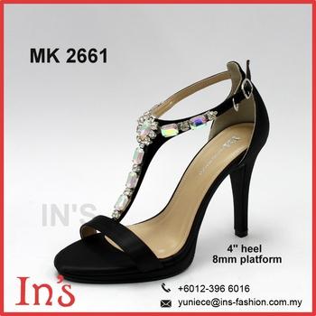amazon best loved hot sales Mk 2661 Latest Black Ladies Heels Shoes From Malaysia - Buy Ladies Heel  Shoes,Malaysia Ladies Shoes,Ladies Shoes Product on Alibaba.com