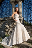 Fantastic Mermaid Design Royal Lace Train Wedding Dress 2016