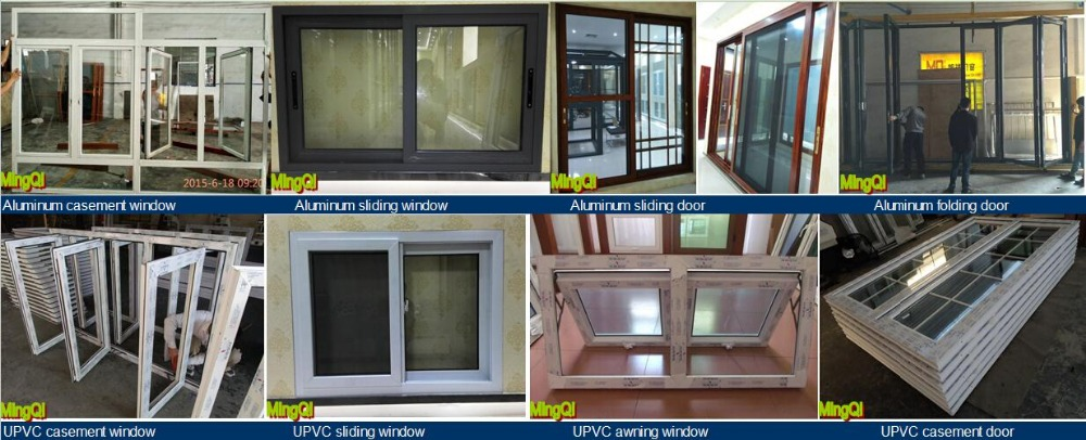Hot Upvc Commercial Sliding Glass Reception Windows Frames German Style Window