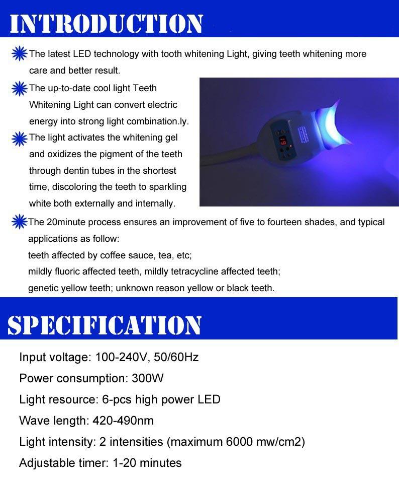 TR-KS-B Dental LED Teeth Whitening Lamp Bleaching System Blue Light Accelerator With Chair Arm Holder,teeth whitening