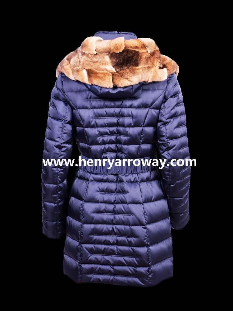 fc8c210d Abrigo largo de plumas con pelo natural de orylac conejo en la capucha  abrigo muy elegante y alto nivel Henry Arroway España-Chamarras y abrigos  de ...