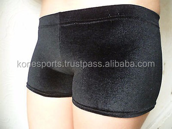 18ec88274a12 New Personalised Velour Gymnastic Shorts - Buy Black Velour ...
