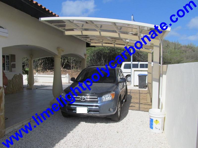 Garaje cobertizo marco de aluminio cochera policarbonato - Garaje para coches ...