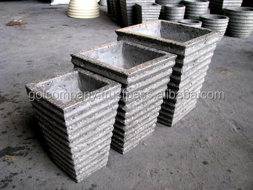 en gros rond carr terrazzo planteurs planteurs de ciment b ton pots ensemble de 3 terrazzo. Black Bedroom Furniture Sets. Home Design Ideas