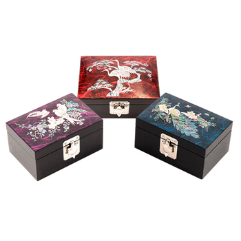 Korean Jewelry Box Buy Lacquerware Inlaid With Motherofpearl