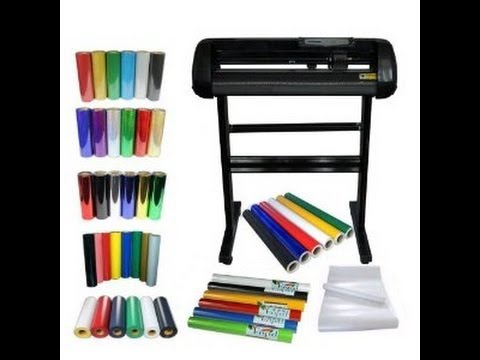 "24"" Vinyl Cutter Plotter & 5 kinds of Heat Transfer Vinyl & Sign Vinyl Sticker"