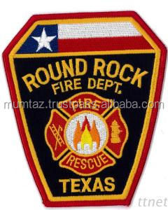 Wholesale Cheap Custom Made Machine Fire Woven Badge