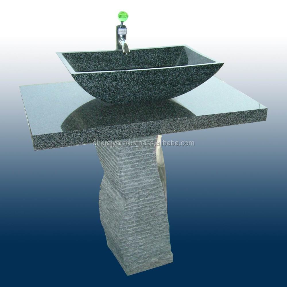 Stand Green Granite Pedestal Bathroom Decor Sink - Buy Fancy ...