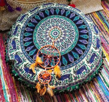 Big Bohemian Floor Pillow Cover Cheapest Ottoman Handmade