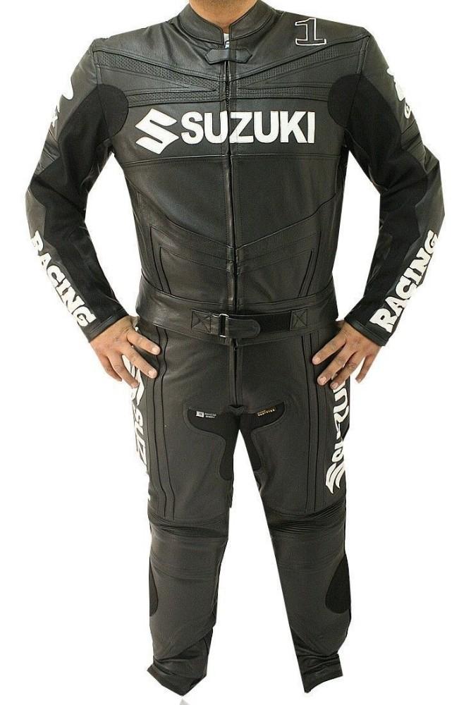Veste moto cuir suzuki