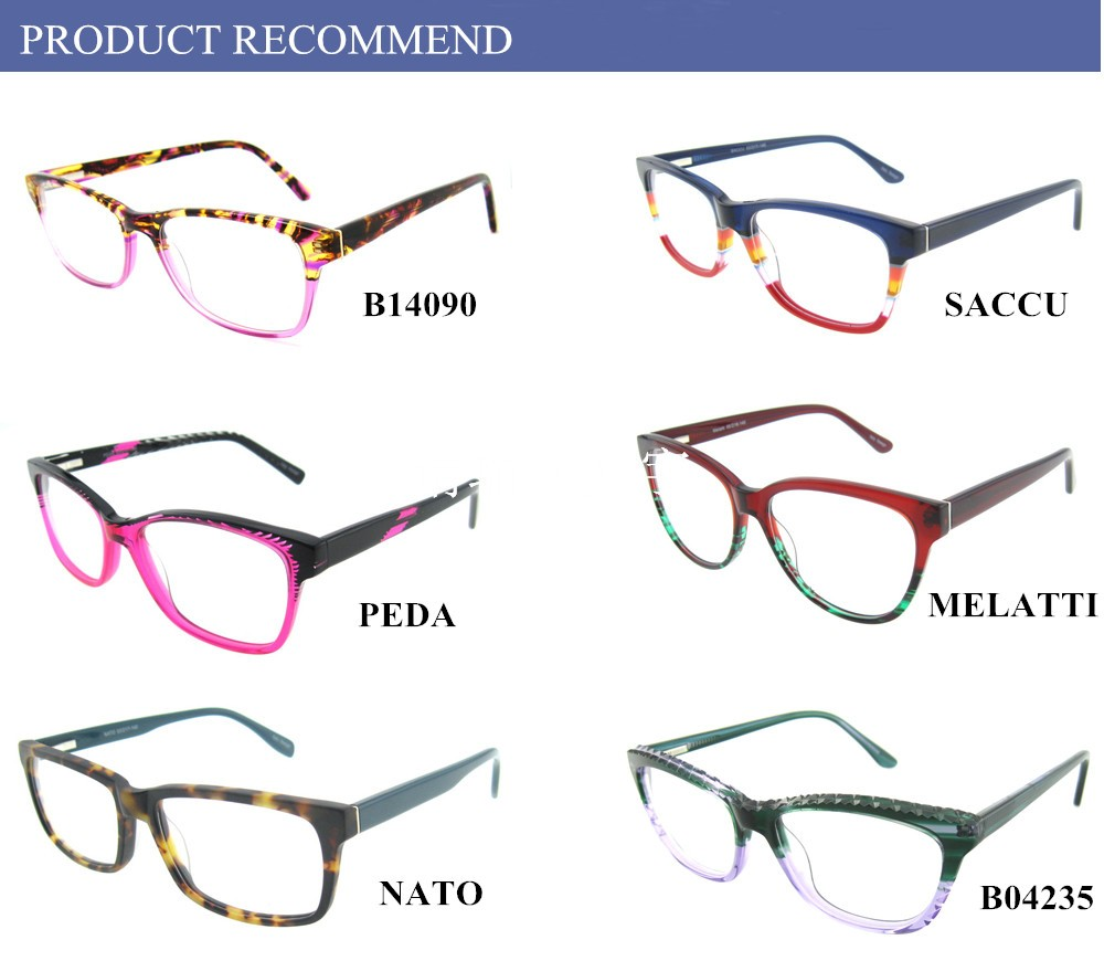 2016 China Latest Trendy Acetate Round Spectacles Frame For Girls ...