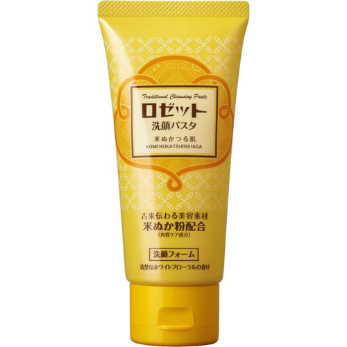 ROSETTE Face Wash Pasta Rice Bran Moisturizing Cleanser 120g