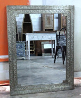 Decorative Recycled White Metal Mirror Frame