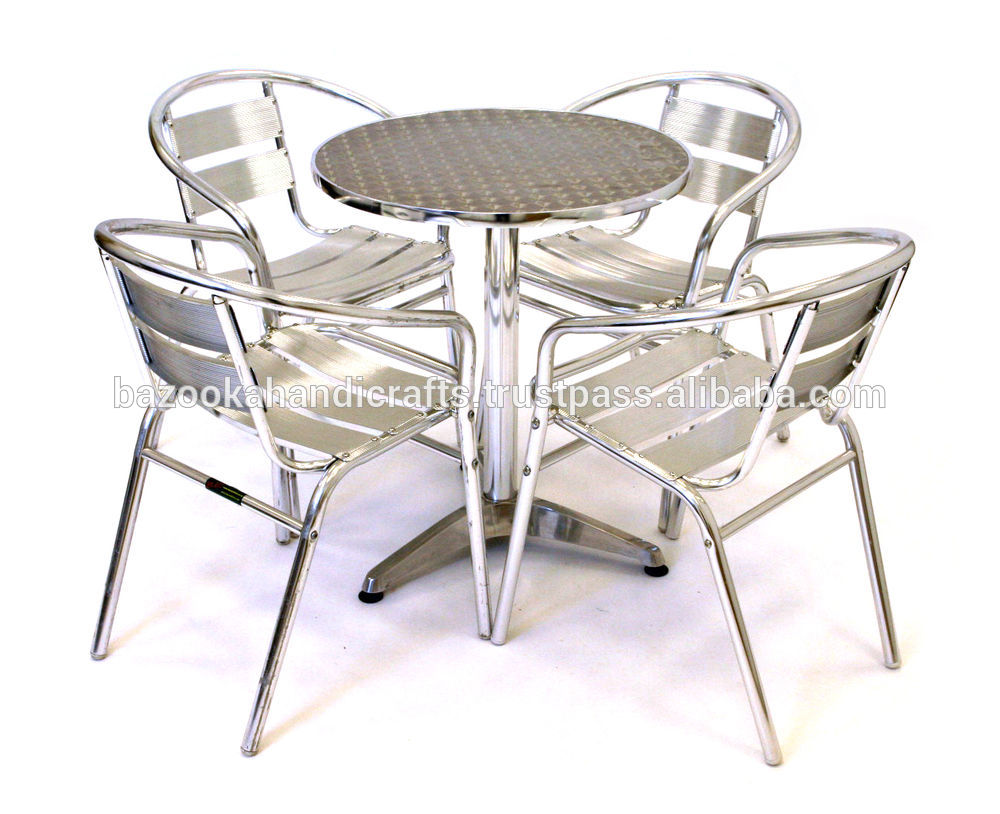 Stainless Steel Table And Chair Garden