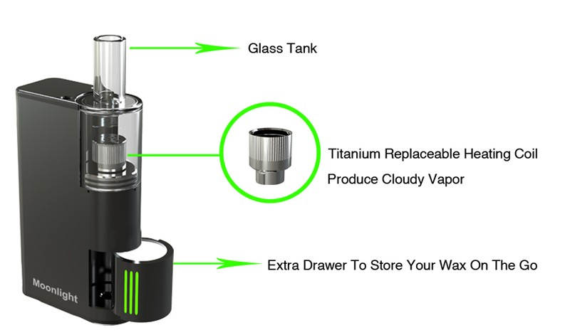 2017hot sell high quality The ATMAN MOONLIGHT wax chamber vaporizer portable vaporizer