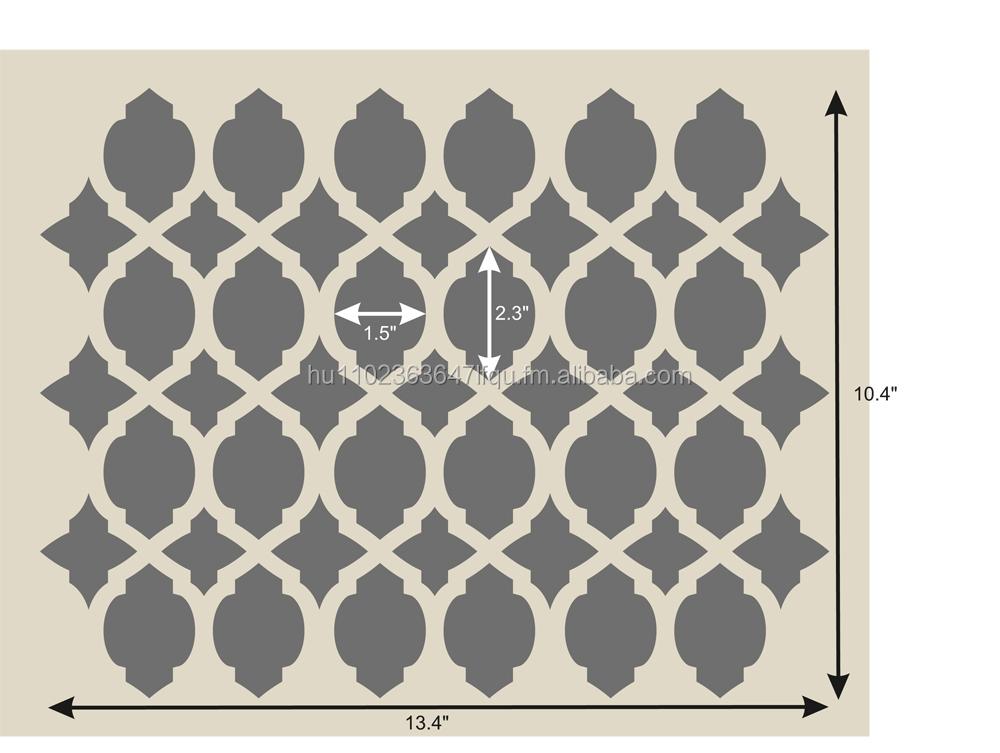 Stencil da parete marocchino stencil template 14 8 x 11 for Stencil da parete