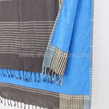 100% Cotton kikoy terry lined beach towel fouta towels