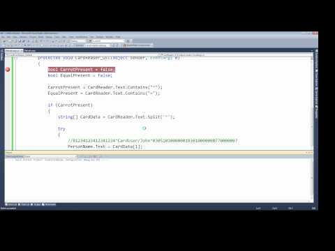 Processing a Credit Card Swipe USB Card Reader) using c#
