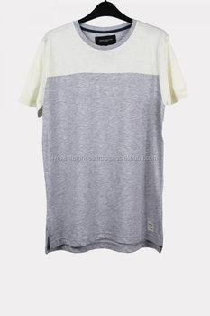 e7298bd5 New design elongated high quality side zip t-shirt/Design Big Blank Tall T