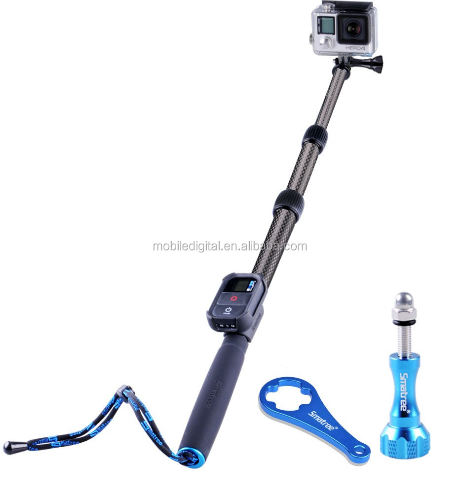 Smatree SmaPole S2C Carbon Fiber monopod /pole for Go pro camera replacment with hot selling