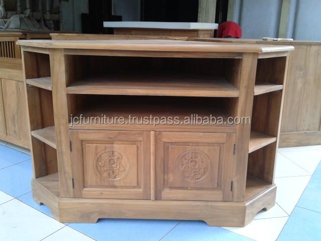 meubles en bois teck coin tv stand conception meubles en bois id de produit 162671348 french. Black Bedroom Furniture Sets. Home Design Ideas