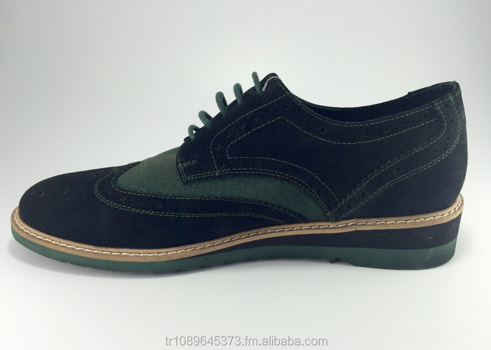 Lace up Suede Handmade amp;Oxford Brogue Shoe Genuine 100 HtP6qaH
