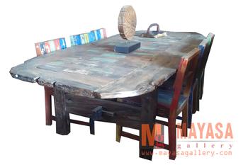 Barco De Madera Juego De Comedor Vintage Muebles Indonesia - Buy Mesa,Barco  De Madera Muebles Indonesia,Regenerado Barco Muebles De Madera Product on  ...