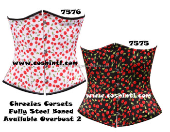 7f778d0c79 Red White cherry Corset