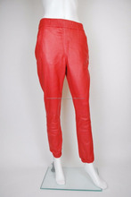 Women motorbike red leather pant,Racing leather pant