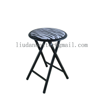 Magnificent Living Room Furniture Zebra Pattern Small Folding Stool Buy Round Folding Stool Product On Alibaba Com Onthecornerstone Fun Painted Chair Ideas Images Onthecornerstoneorg