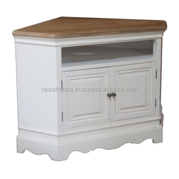 Indonesia Shabby Chic Furniture-York Corner TV Cabinet