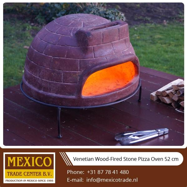 Table woodfired four à pizza en pierre 52 cm, 21 pouces diam.