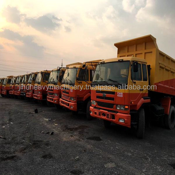 Yellow Rebuilding LHD 2AXLES USED NISSAN UD TRUCK FOR SALE