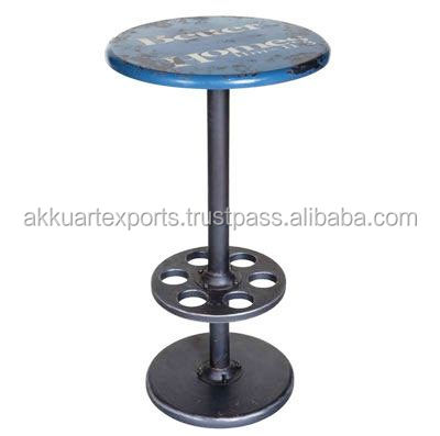 ROUND METAL COUNTER STOOL INDUSTRIAL