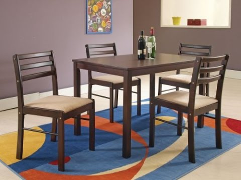 Acme 00880 5-Piece Parkwood Dining Table Set, Cappucino Finish Park wood collection 5-piece