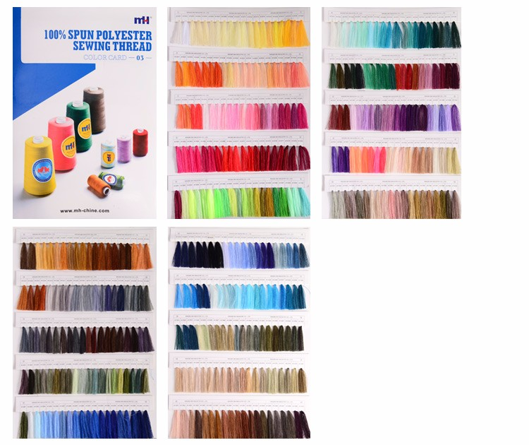 Wholesale 100% polyester sewing thread small spool set thread sewing