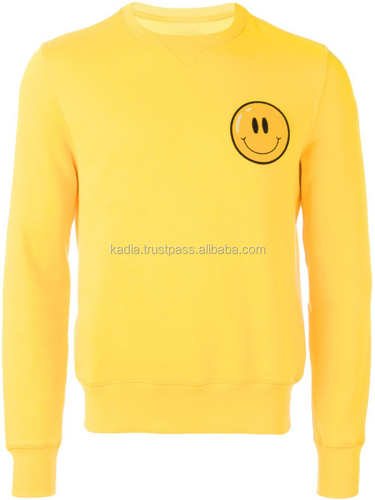 Yellow Happy Virus sweatshirt for Men