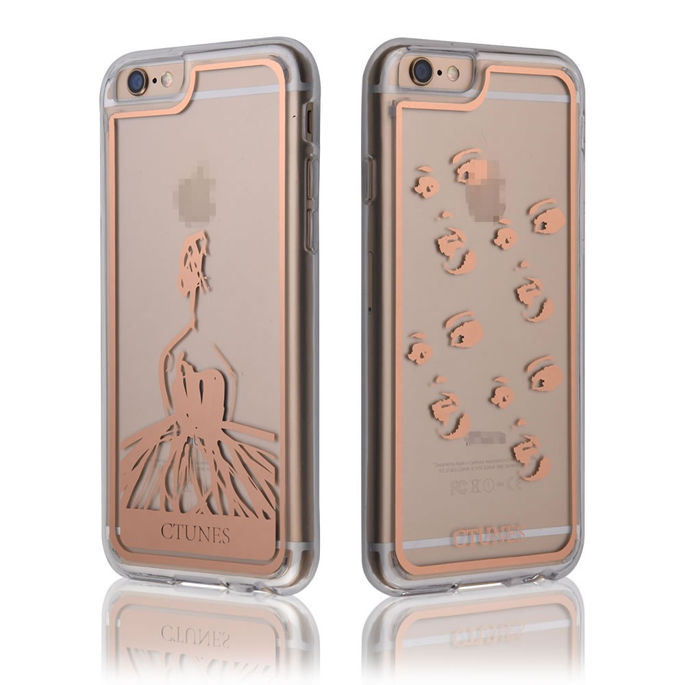 C&T Gold Stamp TPU Bumper Hard PC Back Slim Cover Case for iPhone 7