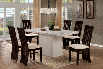 Full Marble Crystal Rectangular Dining Table With White Maleaw - White marble rectangular dining table